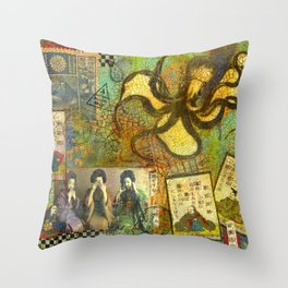 Speak, See, Hear no Evil Throw Pillow