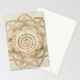 Cho Ku Rei - pastel gold lotus mandala Stationery Cards