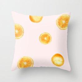 Orange watercolor Throw Pillow
