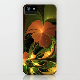 Fantasy Plant, Abstract Fractal Art iPhone Case