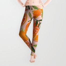 Orange Blooms – Blush Leggings