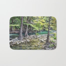 Cypress Trees Bath Mat