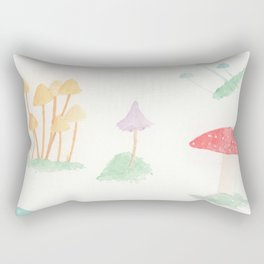 Whimsical Mushrooms Rectangular Pillow