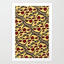 pattern pizza Art Print