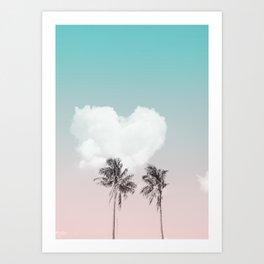 Love palm tree Art Print