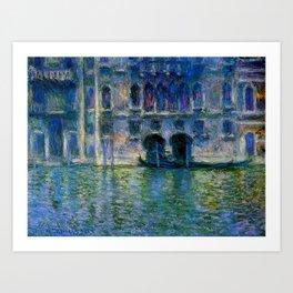 Claude Monet Palazzo da Mula, Venice Art Print