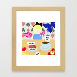 Eat Me. Drink Me. Framed Art Print