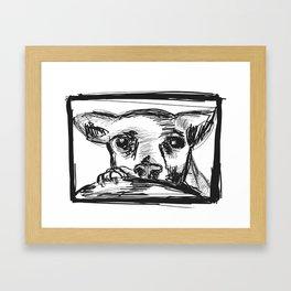 Chihuahua dog Framed Art Print
