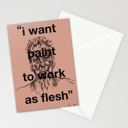I Want Paint To Work As Flesh Stationery Cards
