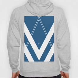 Blue V 2 #retro #society6 #abstract #artdeco #minimal #art #design #kirovair #buyart #decor #home Hoody
