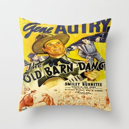 Vintage poster - The Old Barn Dance Throw Pillow