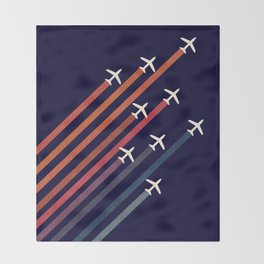 Aerial acrobat Throw Blanket