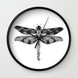 Lace dragonfly Wall Clock