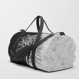 Natural Outlines - Tree Black & Concrete #295 Duffle Bag