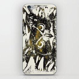 Horned Owl Print iPhone Skin