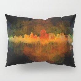 Rome city skyline HQ v04 Dark Pillow Sham