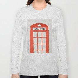 Red London Telephone Box Long Sleeve T-shirt