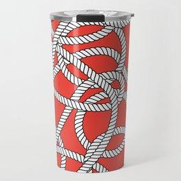 Red Rope Pattern Travel Mug