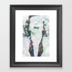 Electric Marilyn Monroe Framed Art Print