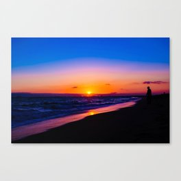 outstanding sunset Canvas Print
