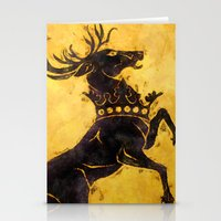 stag Stationery Cards featuring Stag by Narwen