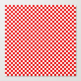 Large Australian Flag Red and White Check Checkerboard Canvas Print