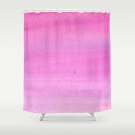 Modern hand painted pink watercolor gradient pattern Shower Curtain