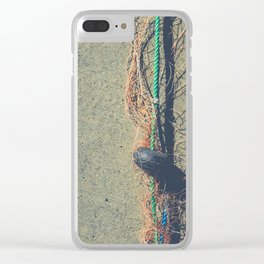 Fishnet with buoy on rope Clear iPhone Case