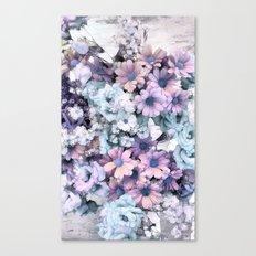 Pastel vintage floral Canvas Print