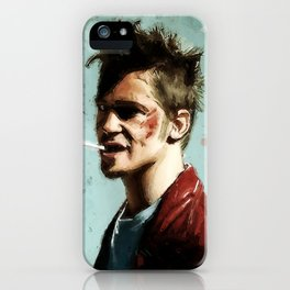 Tyler Cigarette Painting iPhone Case
