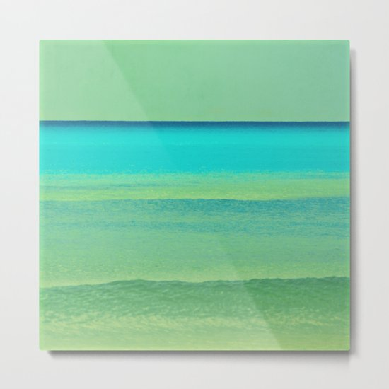 green and blue Metal Print