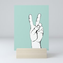 Sign language II Mini Art Print
