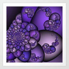 Perplexity of Purple Art Print