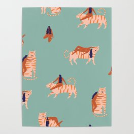 Tigers and girls Poster