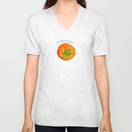 Pretty Persimmon Print Unisex V-Neck