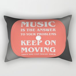 Music is the answer to your problems, dj gift Rectangular Pillow