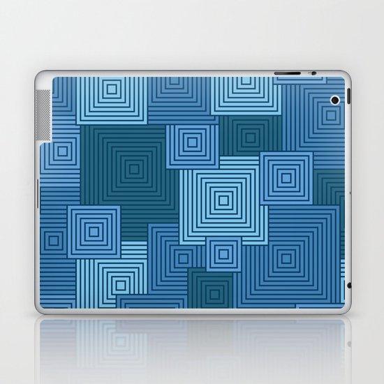 Blue Platformer Laptop & iPad Skin