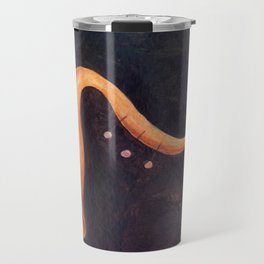 Acrylic painting of a surrealist trumpet Travel Mug