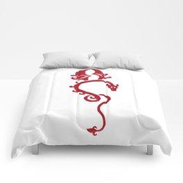 Dragon rouge Comforters