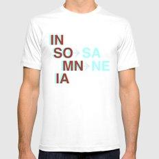 Insomnia / Insane MEDIUM White Mens Fitted Tee