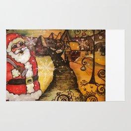 Santa's In Town Rug