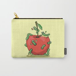 Funny worms in the apple  Carry-All Pouch