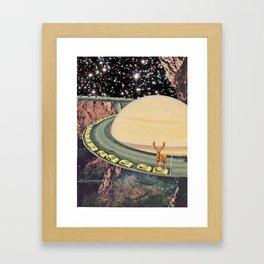 Caribou holding up Traffic Framed Art Print