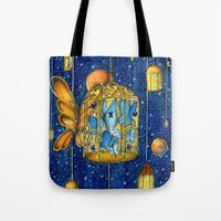 lanterns Tote Bags featuring Lanterns by Anca Chelaru