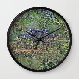 Traditional Korean 'Soswae garden'_A1 Wall Clock