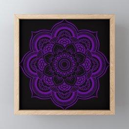 Deep Purple Mandala Framed Mini Art Print