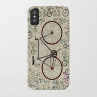 brompton iPhone & iPod Cases featuring Love Fixie Road Bike by Wyatt Design