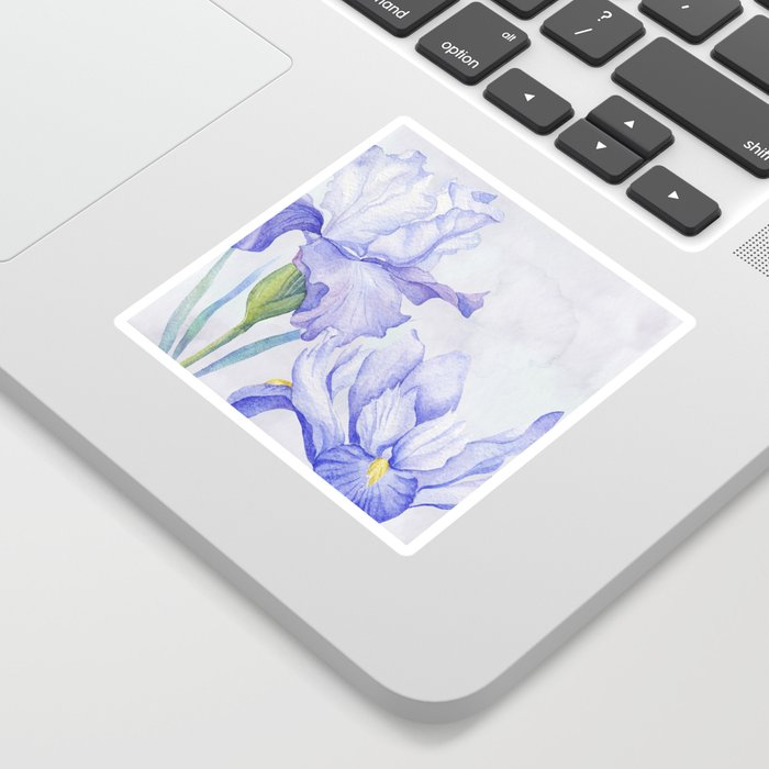 Watercolor Iris Sticker