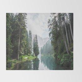 moody landscape Throw Blanket