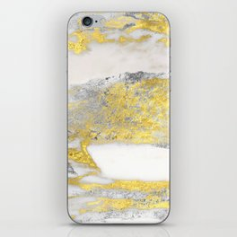 Silver and Gold Marble Design iPhone Skin